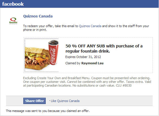 Montreal coupon central facebook