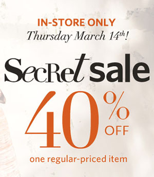 Addition Elle 40 Off One Regular-Priced Item Secret Sale (Mar 14)