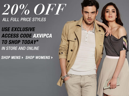 Armani Exchange 20 Off All Full Price Styles