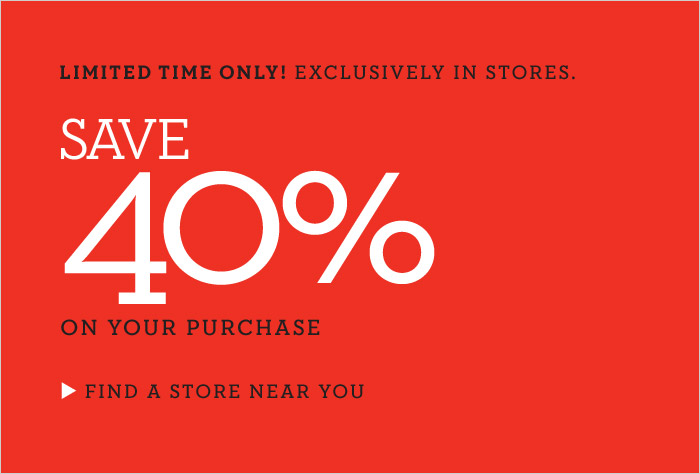 Banana Republic 40 Off Your In-Store Purchase
