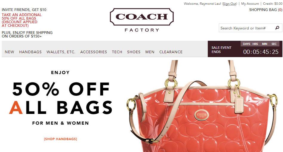 Coach Factory Online 50 Off All Bags (Until March 19, 12 PM EST)