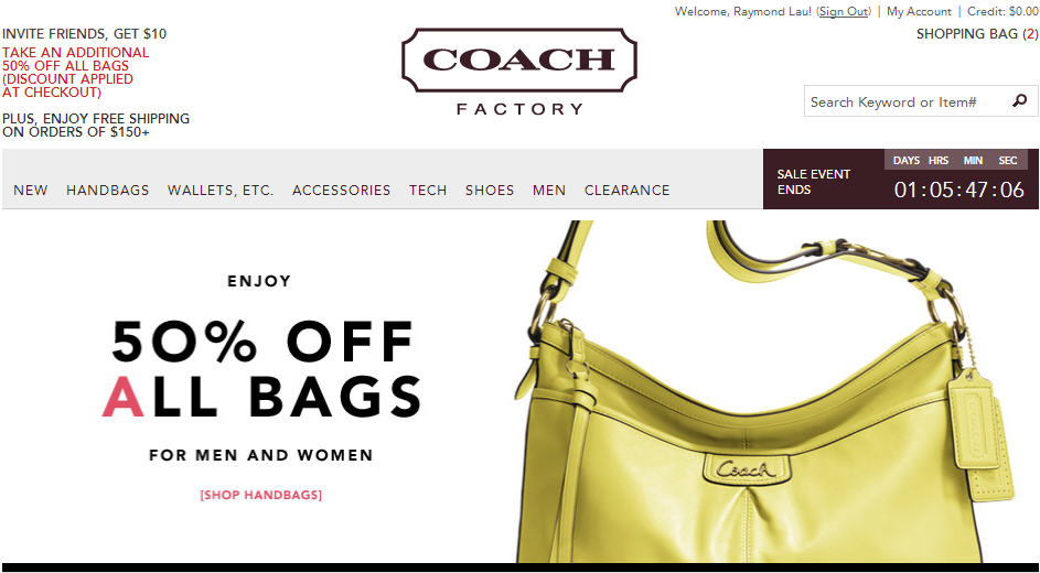 Coach Factory Online Store - Extra 50 Off All Bags