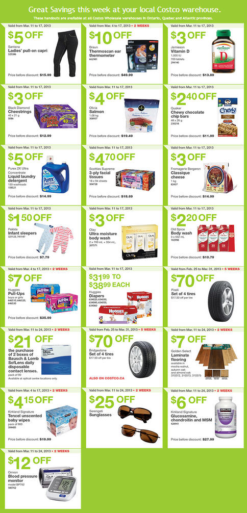 Costco Weekly Handout Instant Savings Coupons EAST (Mar 11-17)