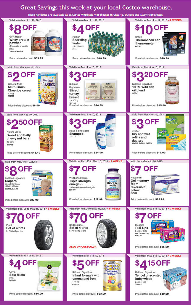Costco Weekly Handout Instant Savings Coupons EAST (Mar 4-10)
