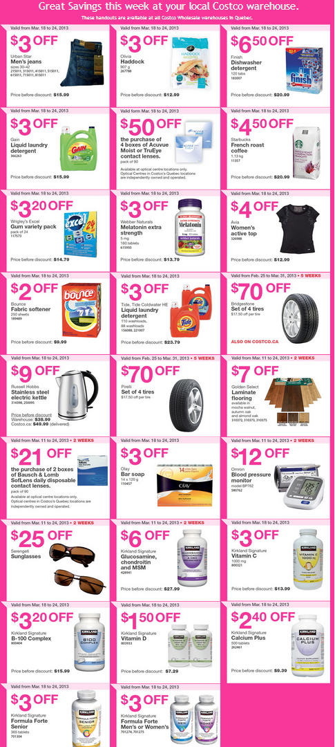 Costco Weekly Handout Instant Savings Coupons Quebec (Mar 18-24)