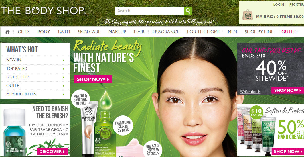 Ebates Get 6 Cash Back + 40 Off Sitewide at The Body Shop (March 8-10)