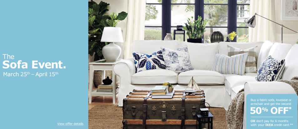 IKEA Sofa Event - Buy 1, Get 1 50 Off (Mar 25 - Apr 15)
