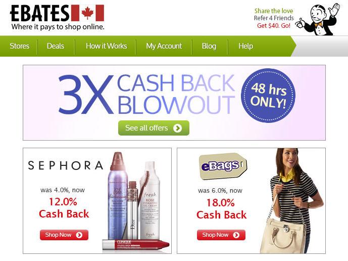 Sephora Get 12 Cash Back on Ebates.ca - 3X Cash Back Blowout (March 18-19)