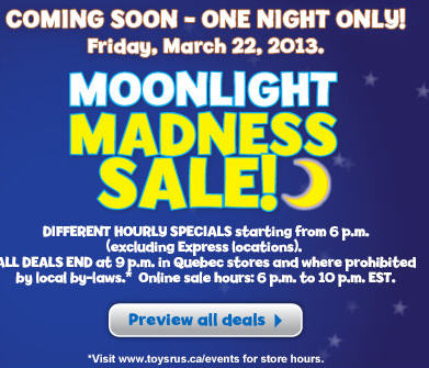 Toys R Us & Babies R Us Moonlight Madness Sale (March 22, Starting at 6pm)