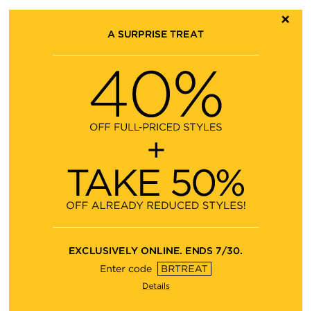 Banana Republic 40 Off Full-Priced Styles + Extra 50 Off Sale Styles (Until July 30)