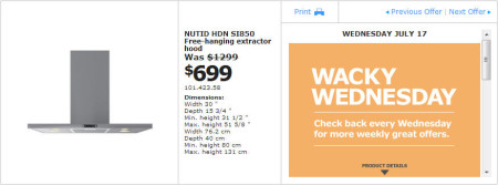 IKEA - Montreal Wacky Wednesday Deal of the Day (July 17)