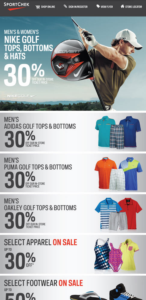 Sport Chek Summer Sale Continues - Save up to 30 Off