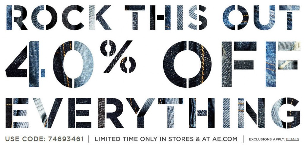American Eagle Outfitters 40 Off Everything + Free Shipping