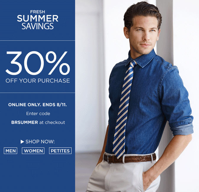 Banana Republic 30 Off Online Purchase (Aug 9-11)