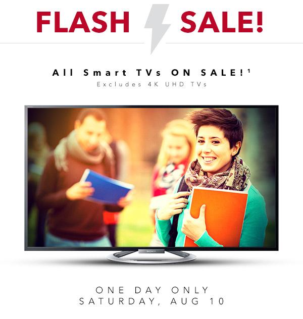 Best Buy Flash Sale - All Smart TVs on Sale (Aug 10)