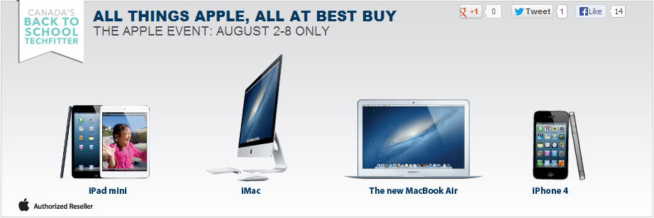 Best Buy The Apple Event - All Things Apple Sale (Until Aug 8)