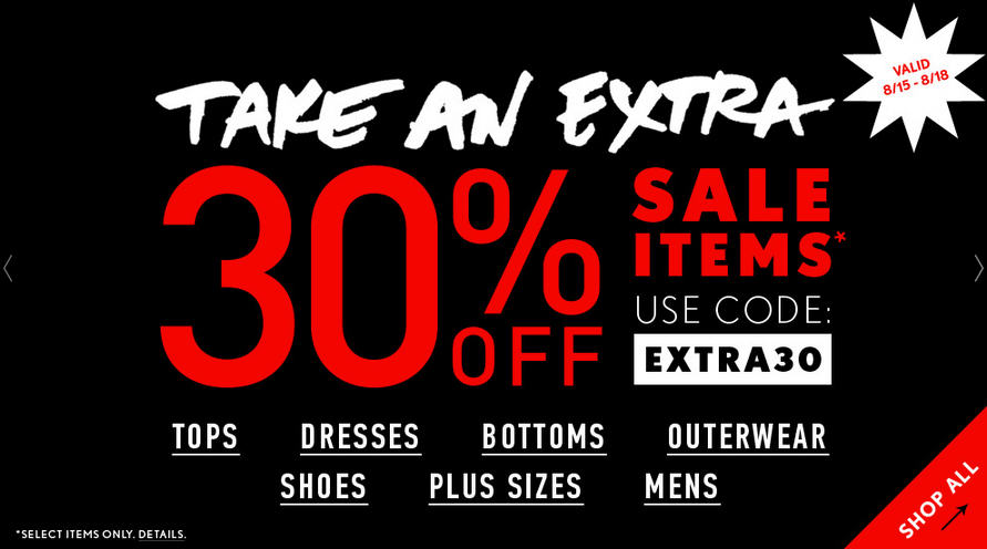 Forever 21 Extra 30 Off Sale Items Promo Code (Until Aug 18)