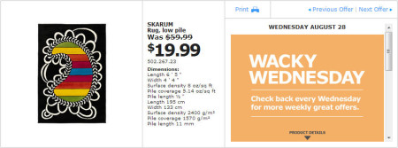 IKEA - Montreal Wacky Wednesday Deal of the Day (Aug 28)