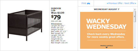 IKEA - Montreal Wacky Wednesday Deal of the Day (Aug 7)