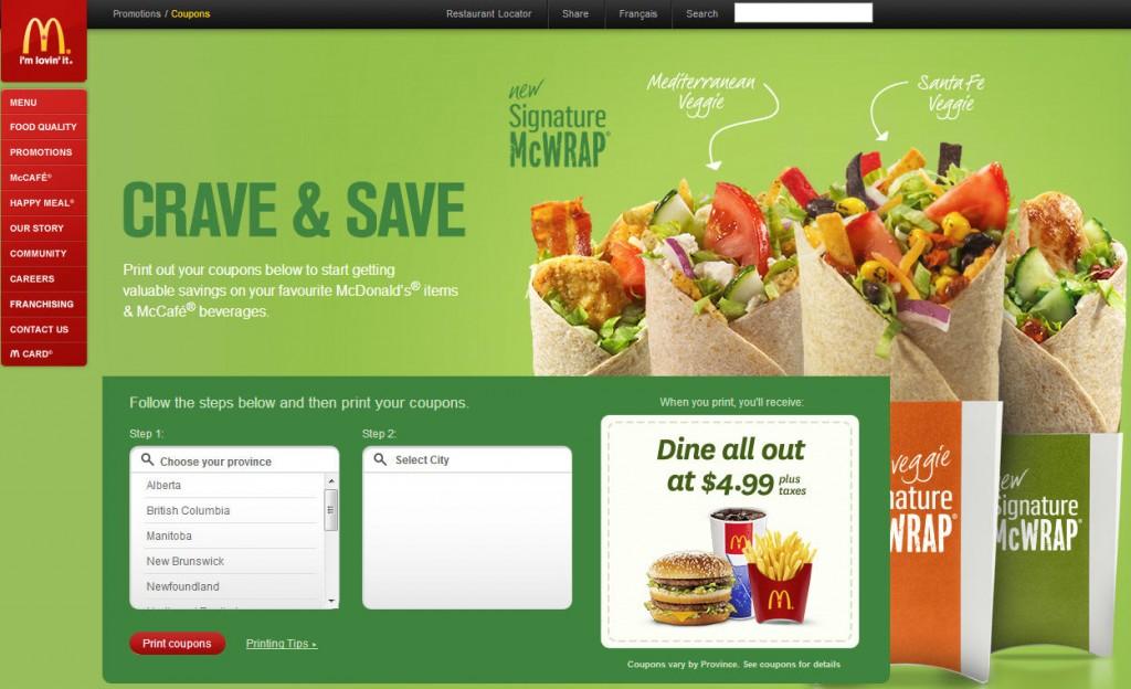 McDonald's Lots of New McDonalds Canada Coupons