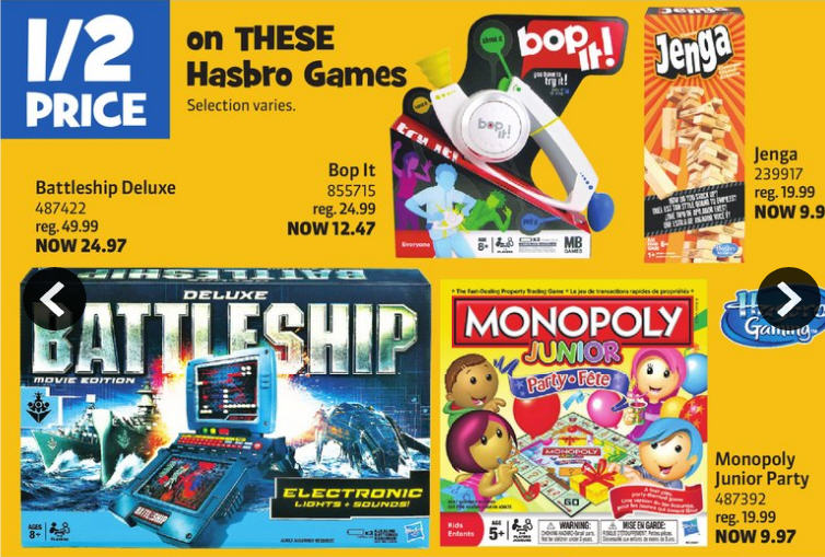 Toys R Us 50 Off Select Hasbro Games + Free Shipping