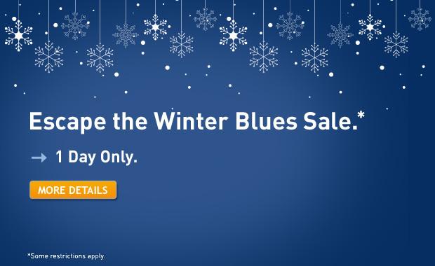 WestJet Escape the Winter Blues Sale 1 Day Only (Nov 14)
