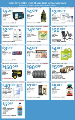 Costco Weekly Handout Instant Savings Coupons Quebec (Sept 29 - Oct 5)