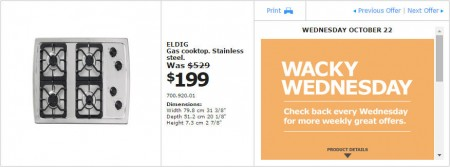 IKEA - Montreal Wacky Wednesday Deal of the Day (Oct 22) A