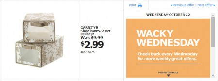 IKEA - Montreal Wacky Wednesday Deal of the Day (Oct 22) B