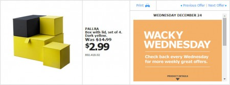 IKEA - Montreal Wacky Wednesday Deal of the Day (Dec 24) A