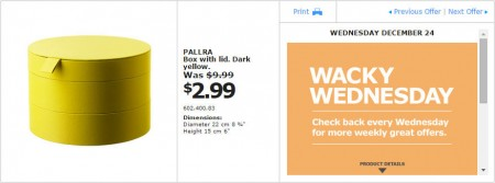 IKEA - Montreal Wacky Wednesday Deal of the Day (Dec 24) B