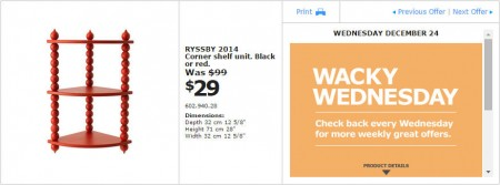 IKEA - Montreal Wacky Wednesday Deal of the Day (Dec 24) C