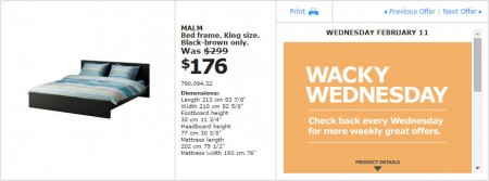 IKEA - Montreal Wacky Wednesday Deal of the Day (Feb 11) A