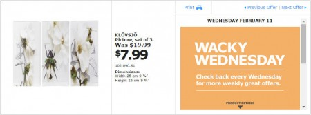 IKEA - Montreal Wacky Wednesday Deal of the Day (Feb 11) D