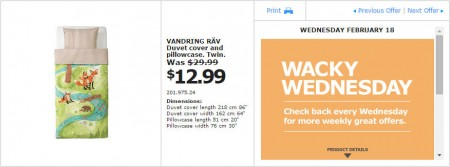 IKEA - Montreal Wacky Wednesday Deal of the Day (Feb 18) A