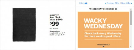 IKEA - Montreal Wacky Wednesday Deal of the Day (Feb 18) B