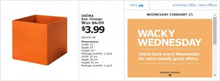 IKEA - Montreal Wacky Wednesday Deal of the Day (Feb 25) B