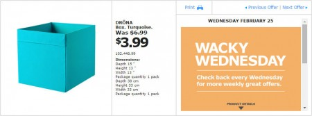 IKEA - Montreal Wacky Wednesday Deal of the Day (Feb 25) D