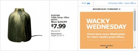 IKEA - Montreal Wacky Wednesday Deal of the Day (Feb 4) B