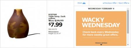 IKEA - Montreal Wacky Wednesday Deal of the Day (Feb 4) C