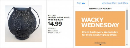 IKEA - Montreal Wacky Wednesday Deal of the Day (Mar 4) A