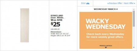 IKEA - Montreal Wacky Wednesday Deal of the Day (Mar 4) B
