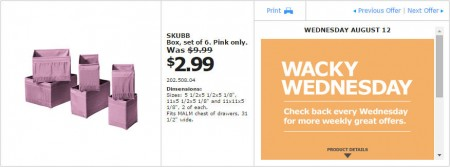 IKEA - Montreal Wacky Wednesday Deal of the Day (Aug 12)