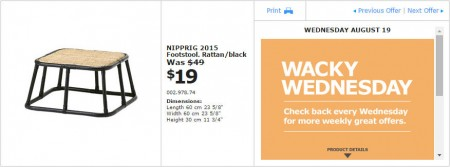 IKEA - Montreal Wacky Wednesday Deal of the Day (Aug 19) A