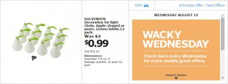 IKEA - Montreal Wacky Wednesday Deal of the Day (Aug 19) B