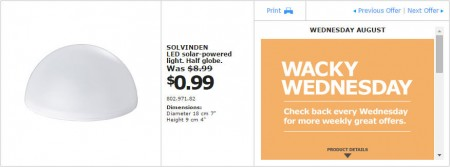 IKEA - Montreal Wacky Wednesday Deal of the Day (Aug 19) C