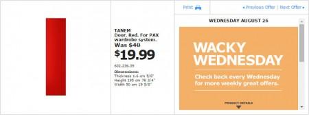 IKEA - Montreal Wacky Wednesday Deal of the Day (Aug 26) B