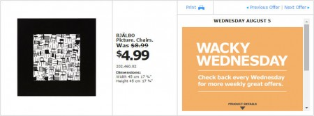 IKEA - Montreal Wacky Wednesday Deal of the Day (Aug 5)