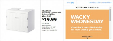 IKEA - Montreal Wacky Wednesday Deal of the Day (Oct 14) A
