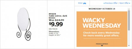IKEA - Montreal Wacky Wednesday Deal of the Day (Oct 14) B